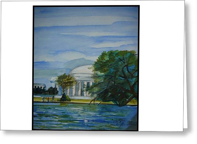 Washington Dc View Greeting Card by Angela Puglisi