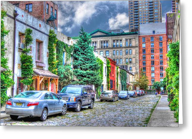 Washington Mews Facing East Greeting Card by Randy Aveille