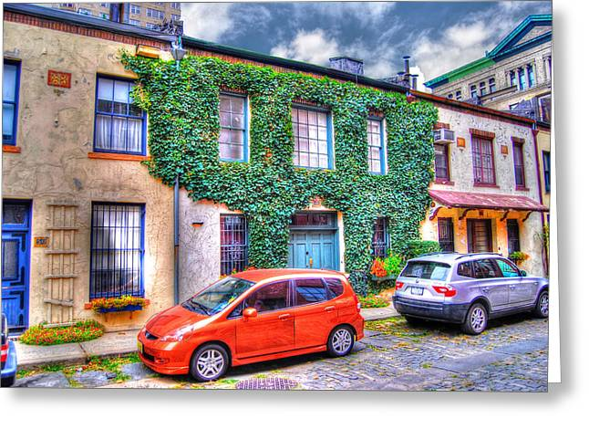 Washington Mews Ivy Greeting Card by Randy Aveille
