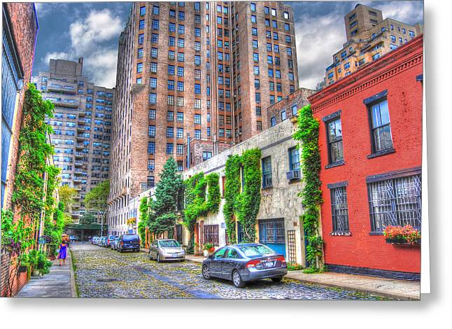 Washington Mews Southeast View Greeting Card by Randy Aveille