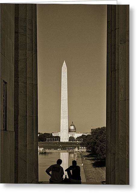 Washington Monument And Capitol #4 Greeting Card