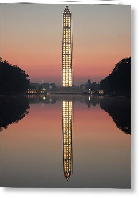 Washington Monument In The Morning Light Greeting Card