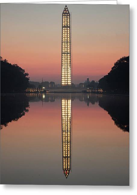 Washington Monument At Dawn Greeting Card