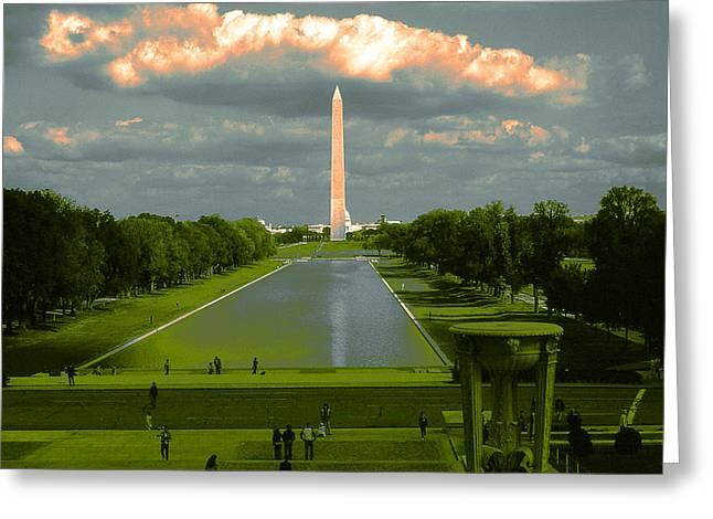 Washington Monument Twilight Greeting Card
