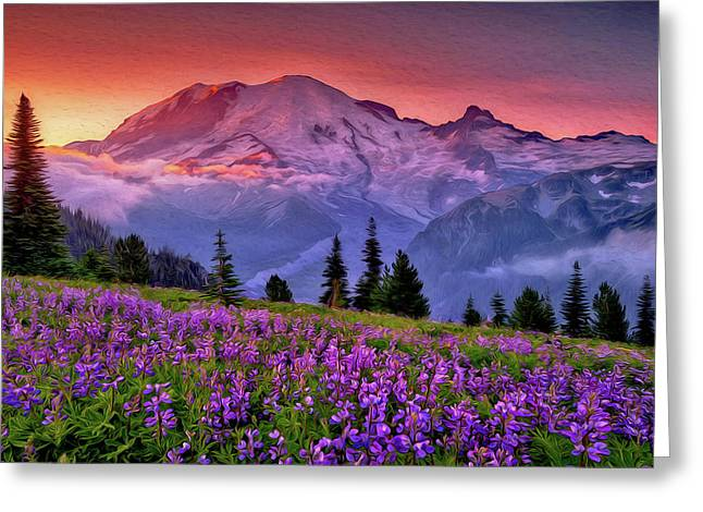 Washington, Mt Rainier National Park - 05 Greeting Card