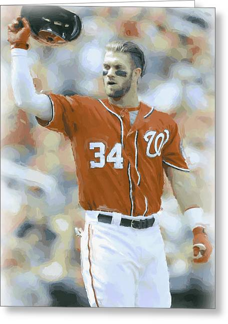Washington Nationals Bryce Harper 2 Greeting Card