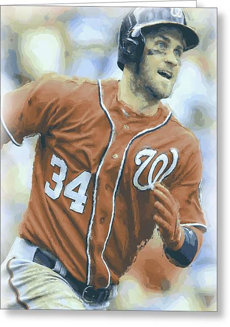 Washington Nationals Bryce Harper 3 Greeting Card