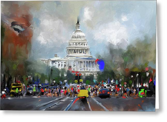 Washington Painting 478 I Greeting Card