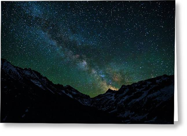 Washington Pass Overlook Milky Way Greeting Card