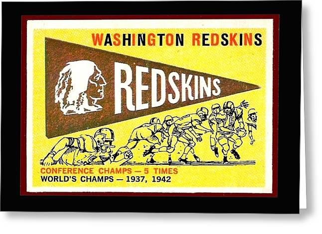 Washington Redskins 1959 Pennant Card Greeting Card by Paul Van Scott