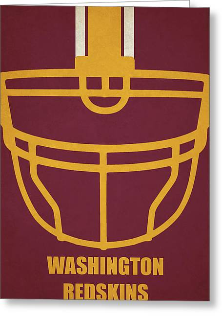 Washington Redskins Helmet Art Greeting Card