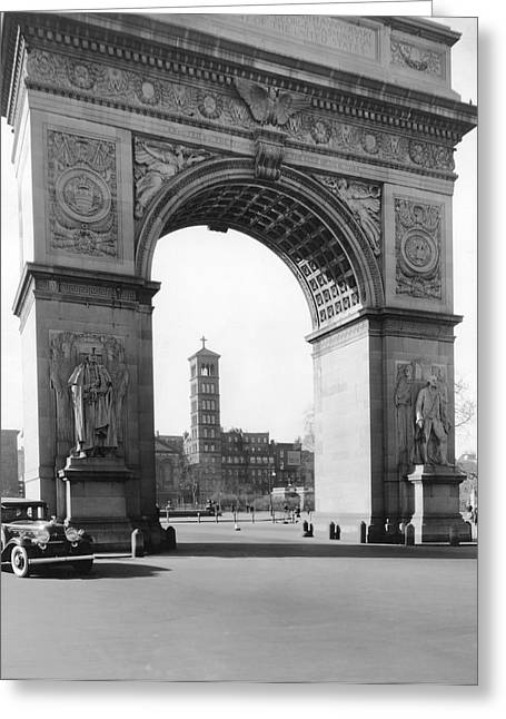 Washington Square In New York Greeting Card