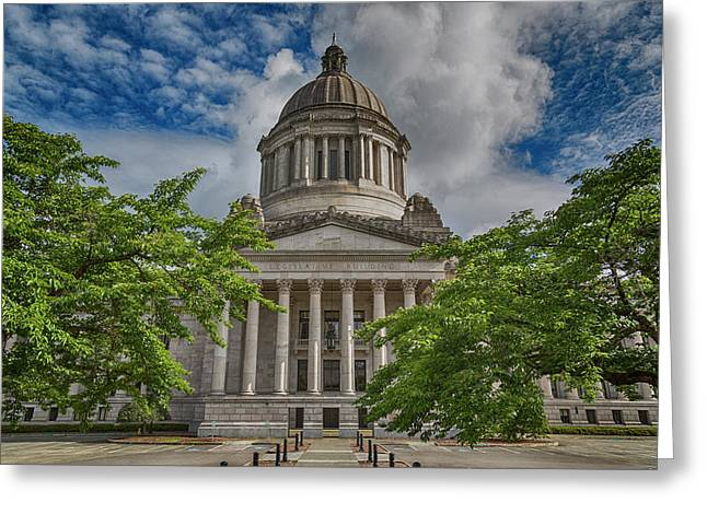 Washington State Capitol Greeting Card by Stephen Stookey