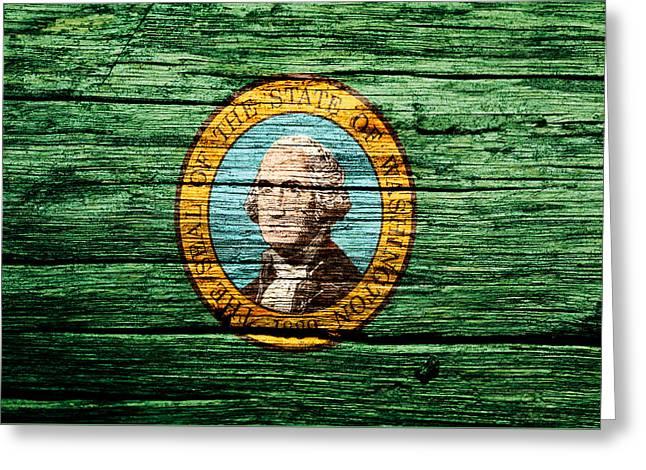 Washington State Flag 4w Greeting Card