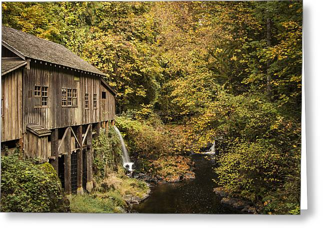 Washington State Grist Mill By Jean Noren Greeting Card