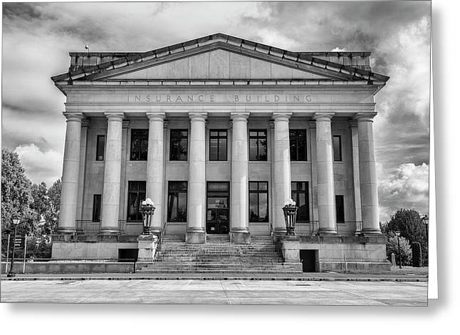 Washington State Insurance Building Greeting Card by Stephen Stookey