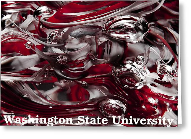 Washington State University Cougars Greeting Card by David Patterson