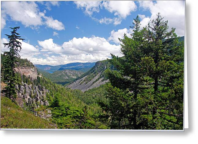 Washington State Vista On Us Hwy 12 - Nr 1 Greeting Card by Stephen Bonrepos