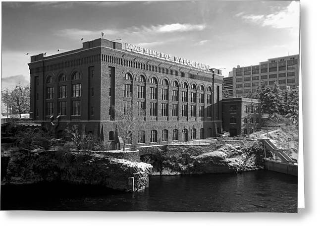 """spokane Falls"" Greeting Cards - Washington Water Power Post Street Station - Spokane Washington Greeting Card by Daniel Hagerman"