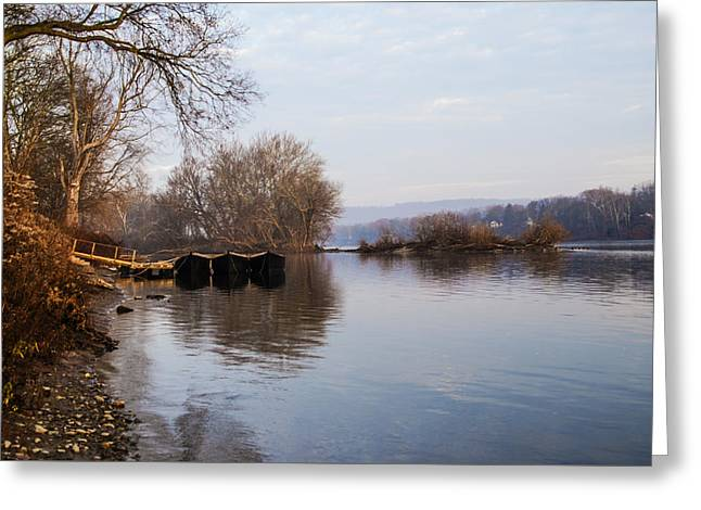 Washington's Crossing - Re-enactment Boats Greeting Card by Bill Cannon