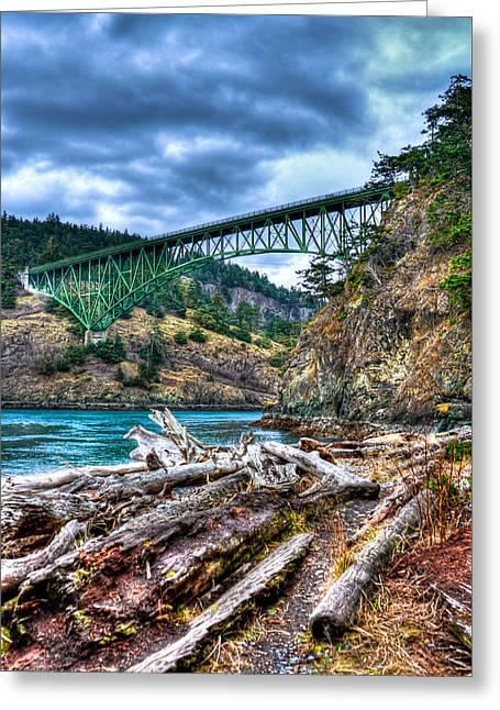Washington's Deception Pass Bridge Greeting Card by David Patterson