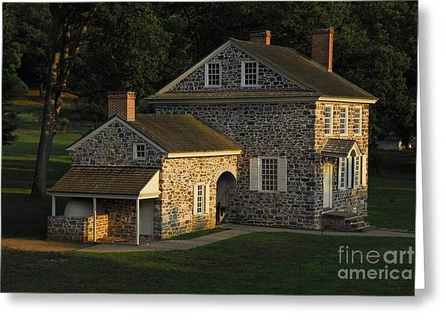 Philadelphia Framed Prints Greeting Cards - Washingtons Headquarters at Valley Forge Greeting Card by Cindy Manero
