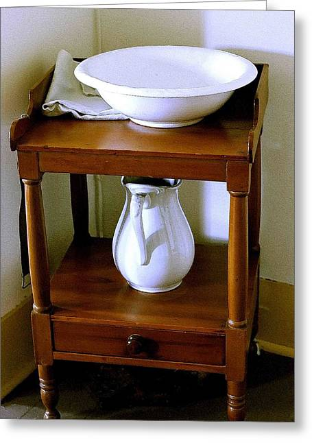 Washstand Greeting Card