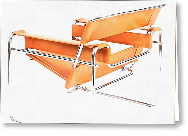 Wassily Chair Mid-century Modern Greeting Card