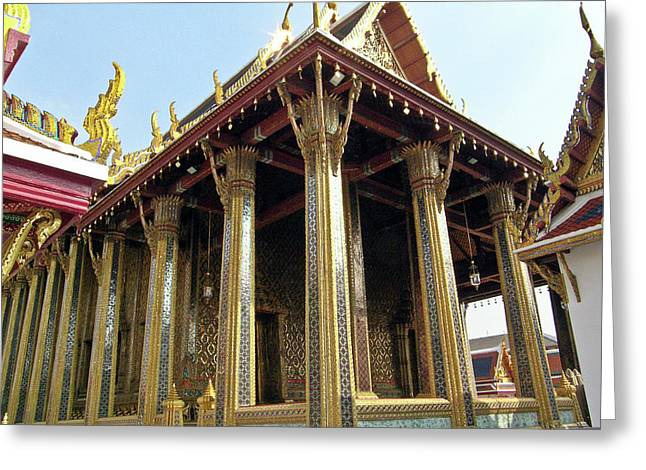 Rama Greeting Cards - Wat Po Bangkok Thailand 5 Greeting Card by Douglas Barnett