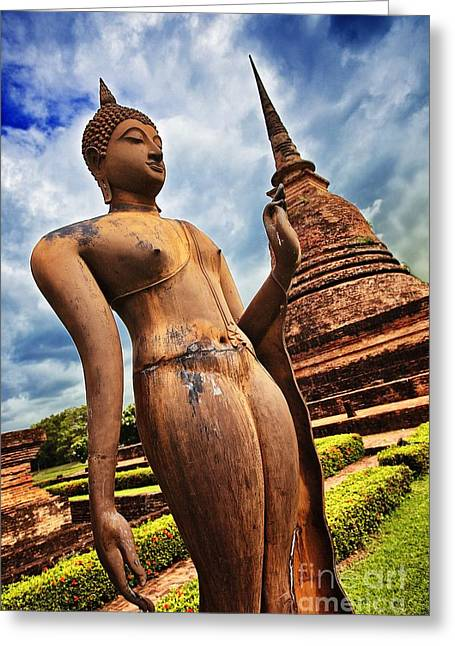 Wat Sra Sri In Sukhothai Thailand Southeast Asia Greeting Card