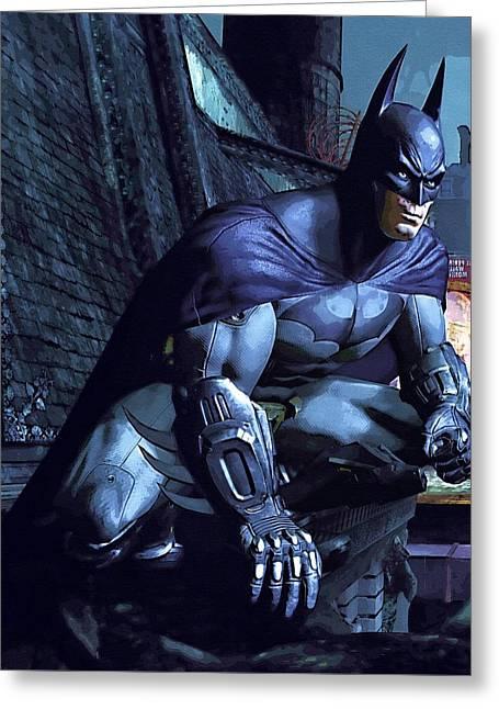 Watch Batman Poster Greeting Card