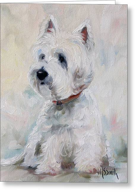 Watch Dog Greeting Card by Mary Sparrow