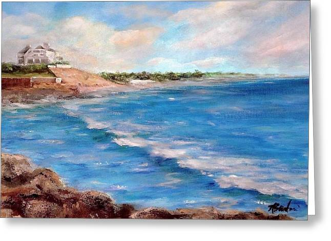 Watch Hill Beach Greeting Card by Anne Barberi