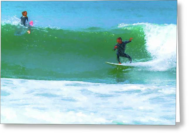 Watch How I Surf This One Watercolor Greeting Card