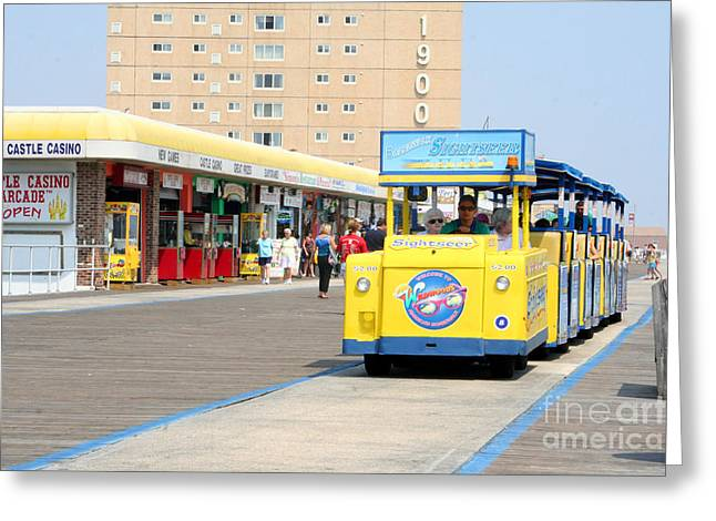 Watch The Tram Car Please Greeting Card