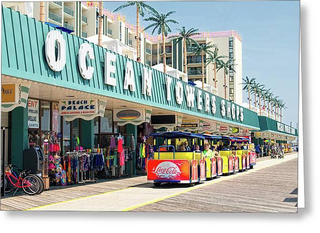 Watch The Tram Car - Wildwood, Nj Greeting Card
