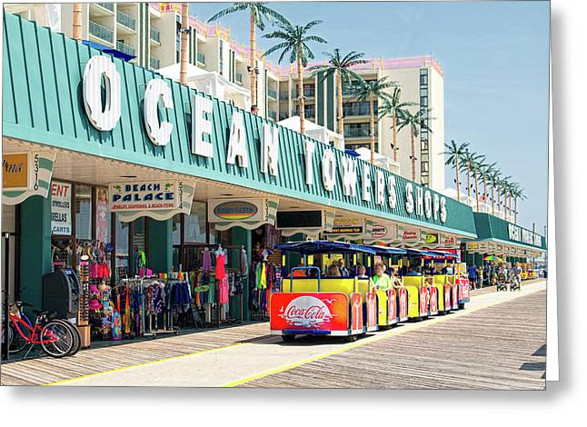 Watch The Tram Car - Wildwood, Nj Greeting Card