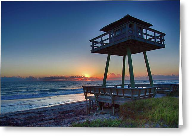 Watch Tower Sunrise 2 Greeting Card