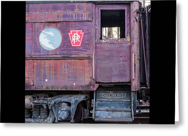 Greeting Card featuring the photograph Watch Your Step Vintage Railroad Car by Terry DeLuco