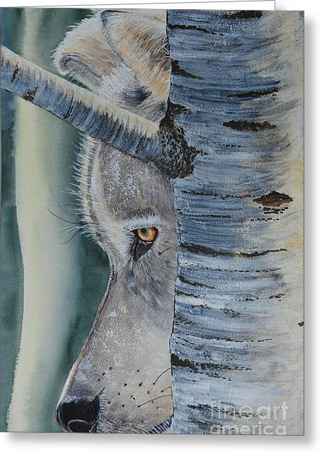Watcher In The Wood Greeting Card