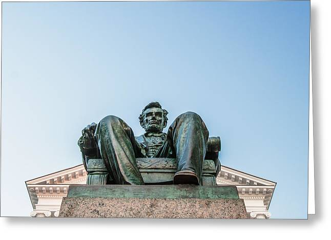 Watchful Abe Greeting Card by Todd Klassy