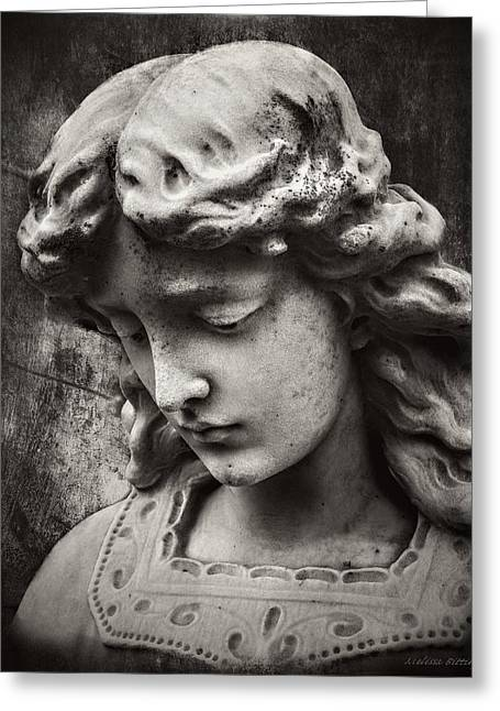 Watchful Angel Greeting Card by Melissa Bittinger