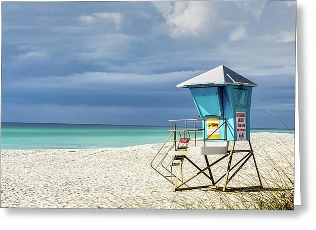 Lifeguard Tower Florida Gulf Coast Greeting Card