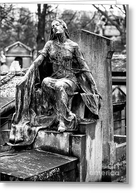 Watching Over You In Paris Greeting Card