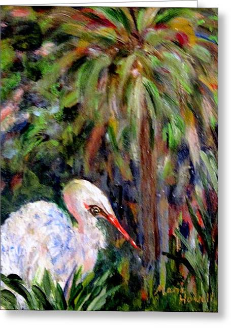 Watching The Marsh Greeting Card by Marie Howell