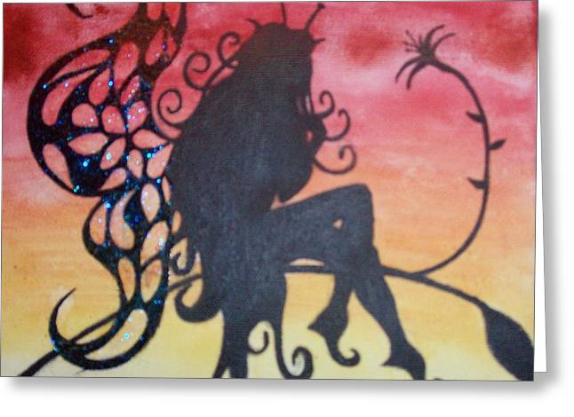 Watching The Sunset Greeting Card by Amy Lauren Gettys
