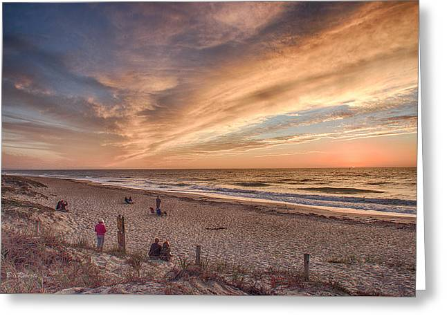 Moss Landing Boats Greeting Cards - Watching The Sunset Greeting Card by Bill Roberts
