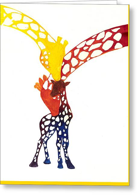 Colorful giraffe greeting cards page 13 of 13 fine art america watching their son rise greeting card m4hsunfo