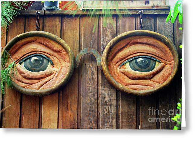 Watching You Greeting Card by Mariola Bitner