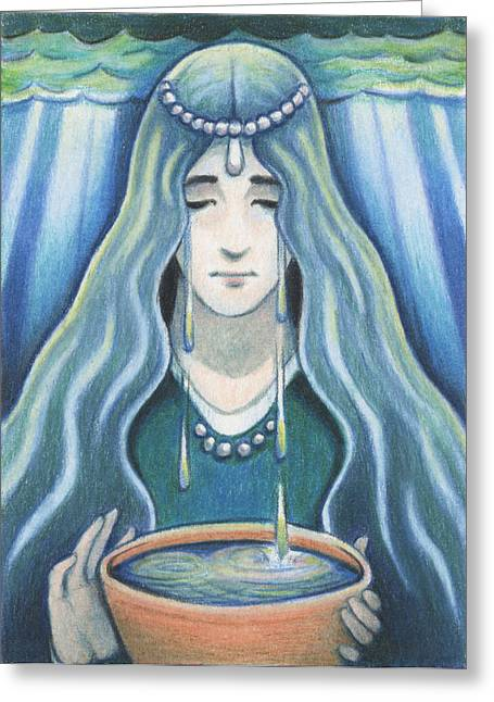 Water - The Elements Greeting Card by Amy S Turner